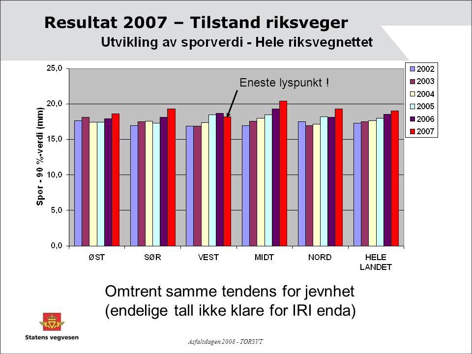 Resultat 2007 – Tilstand riksveger