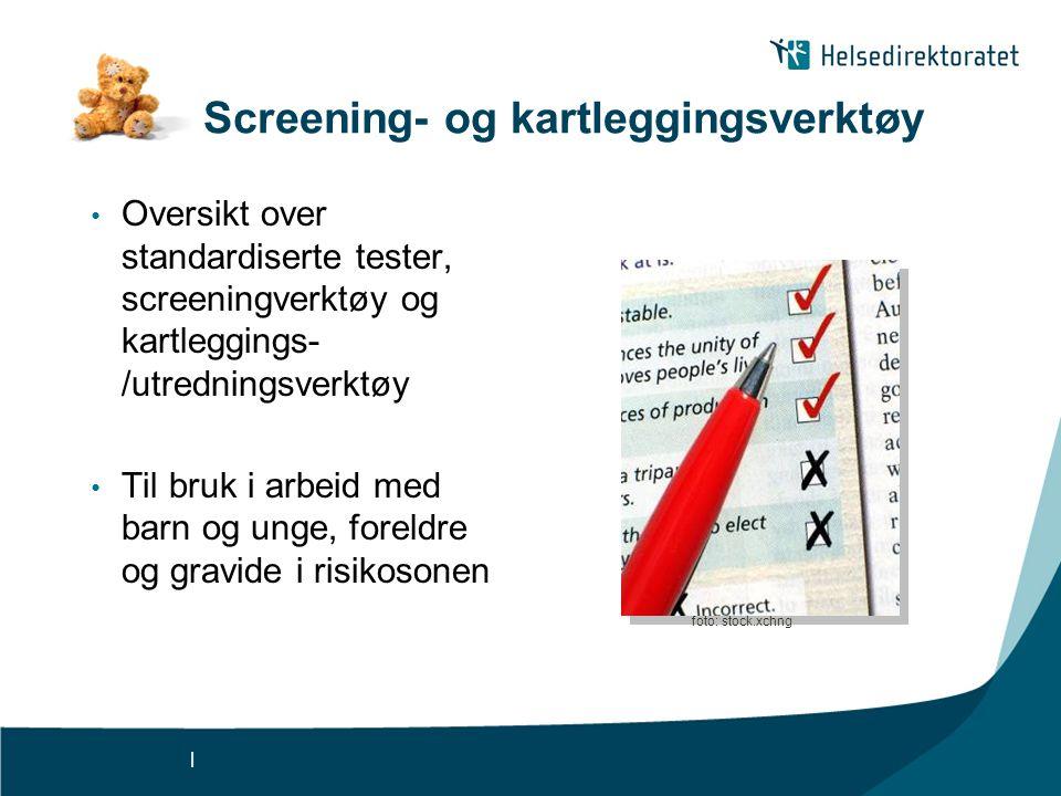 Screening- og kartleggingsverktøy
