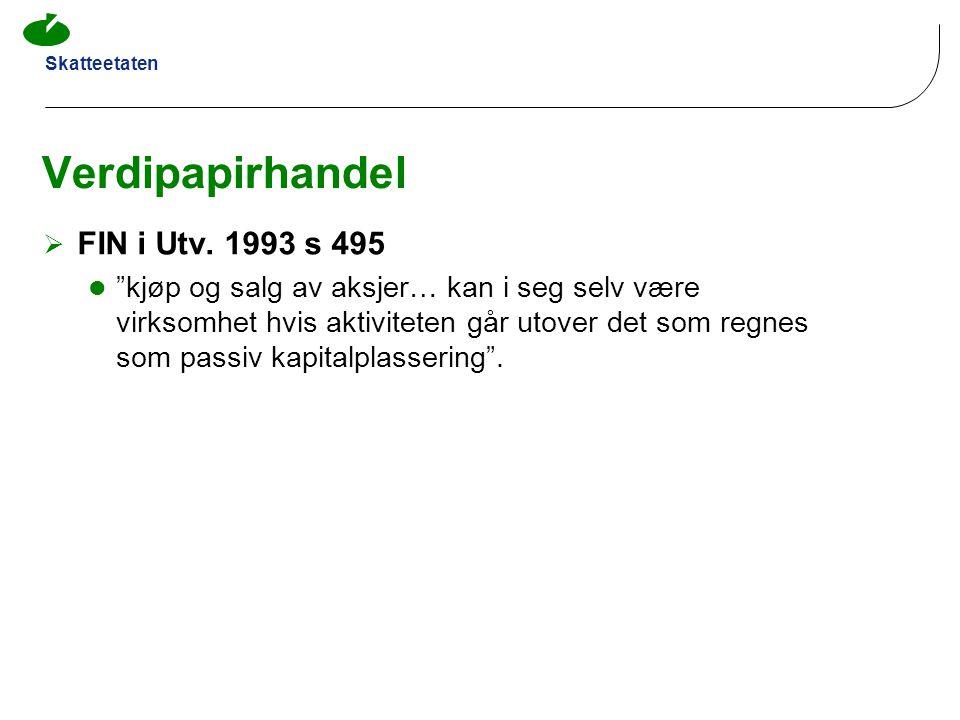 Verdipapirhandel FIN i Utv. 1993 s 495