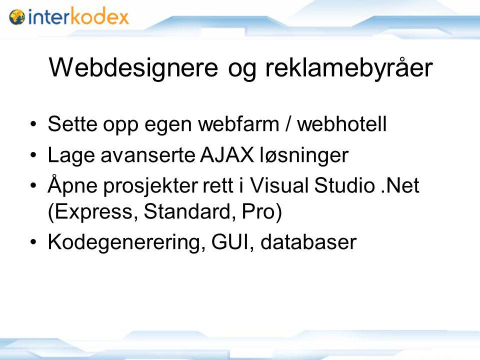 Webdesignere og reklamebyråer