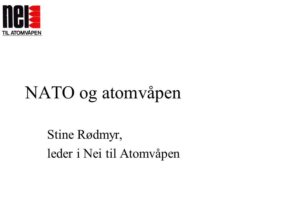 Stine Rødmyr, leder i Nei til Atomvåpen
