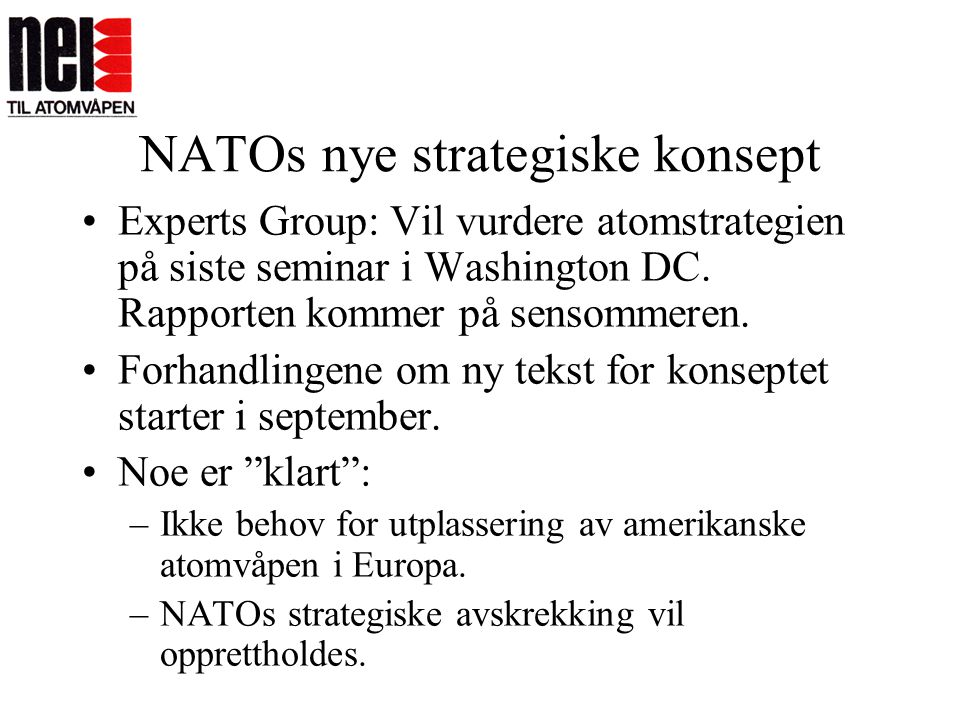 NATOs nye strategiske konsept