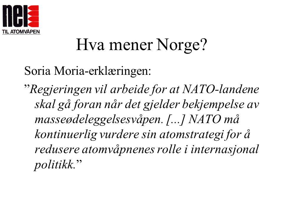 Hva mener Norge Soria Moria-erklæringen: