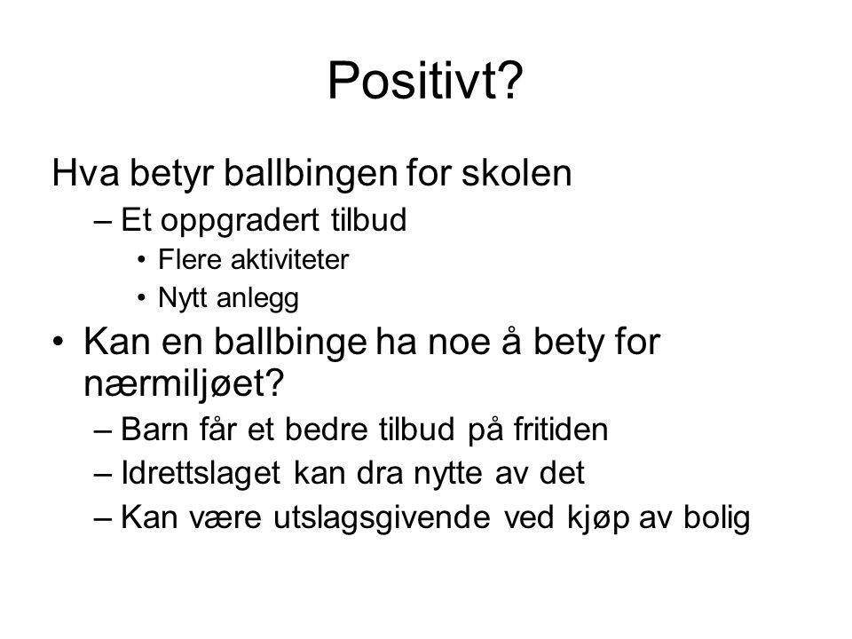 Positivt Hva betyr ballbingen for skolen