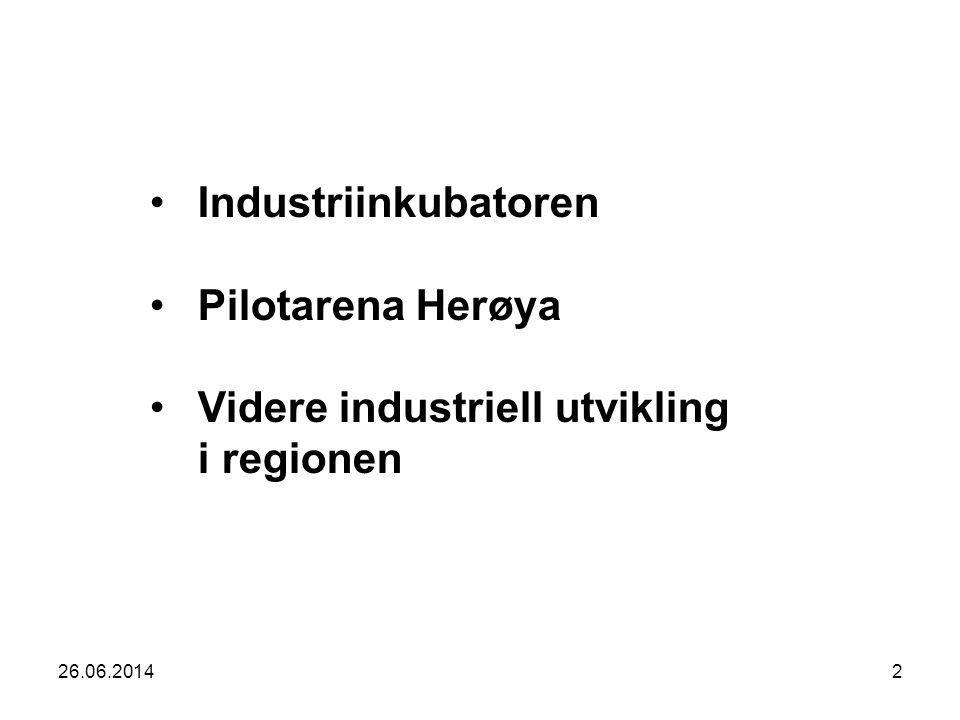 Videre industriell utvikling i regionen