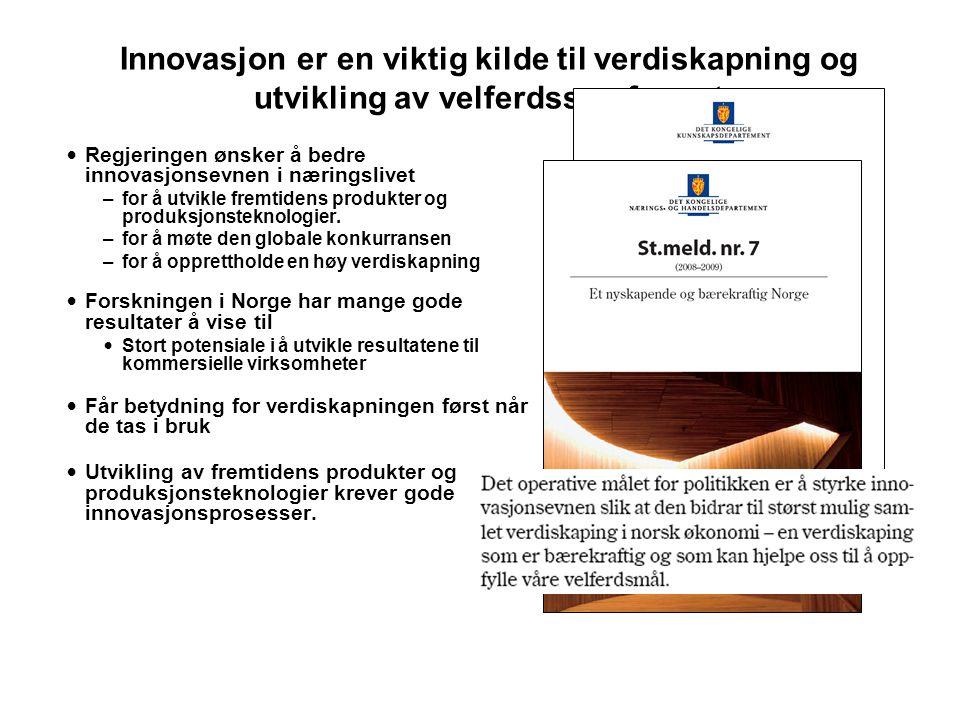 Innovasjon er en viktig kilde til verdiskapning og utvikling av velferdssamfunnet