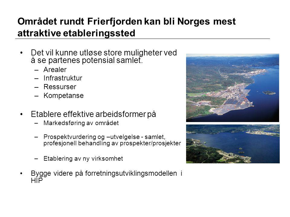 Området rundt Frierfjorden kan bli Norges mest attraktive etableringssted