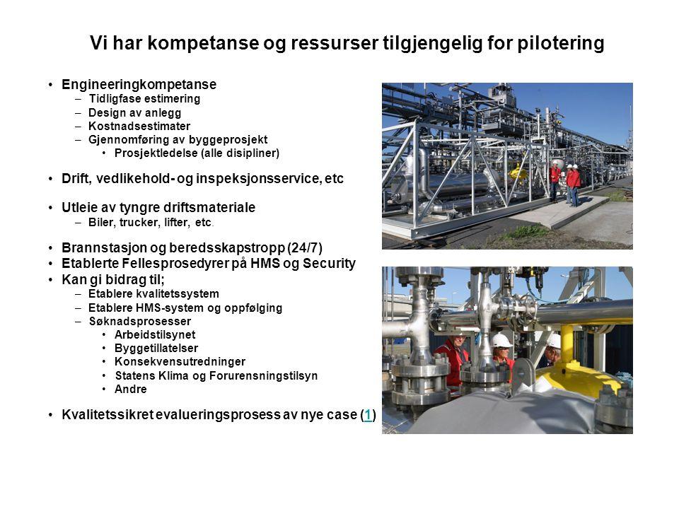 Vi har kompetanse og ressurser tilgjengelig for pilotering