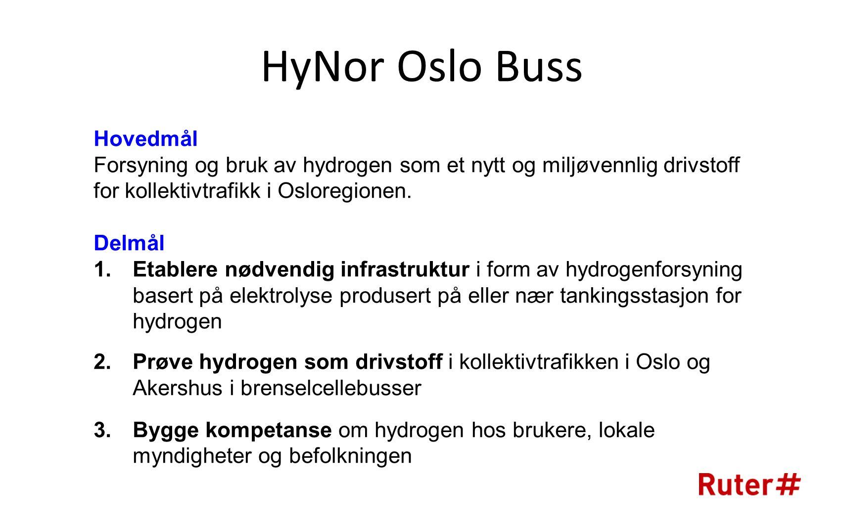 HyNor Oslo Buss Hovedmål