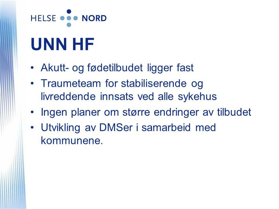 UNN HF Akutt- og fødetilbudet ligger fast