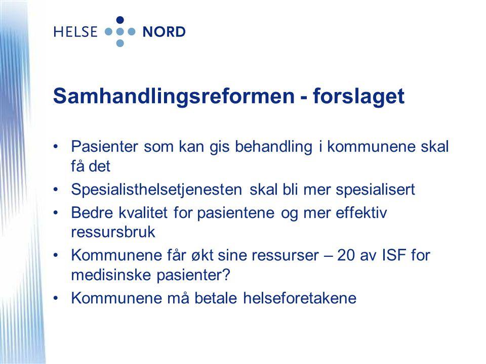 Samhandlingsreformen - forslaget