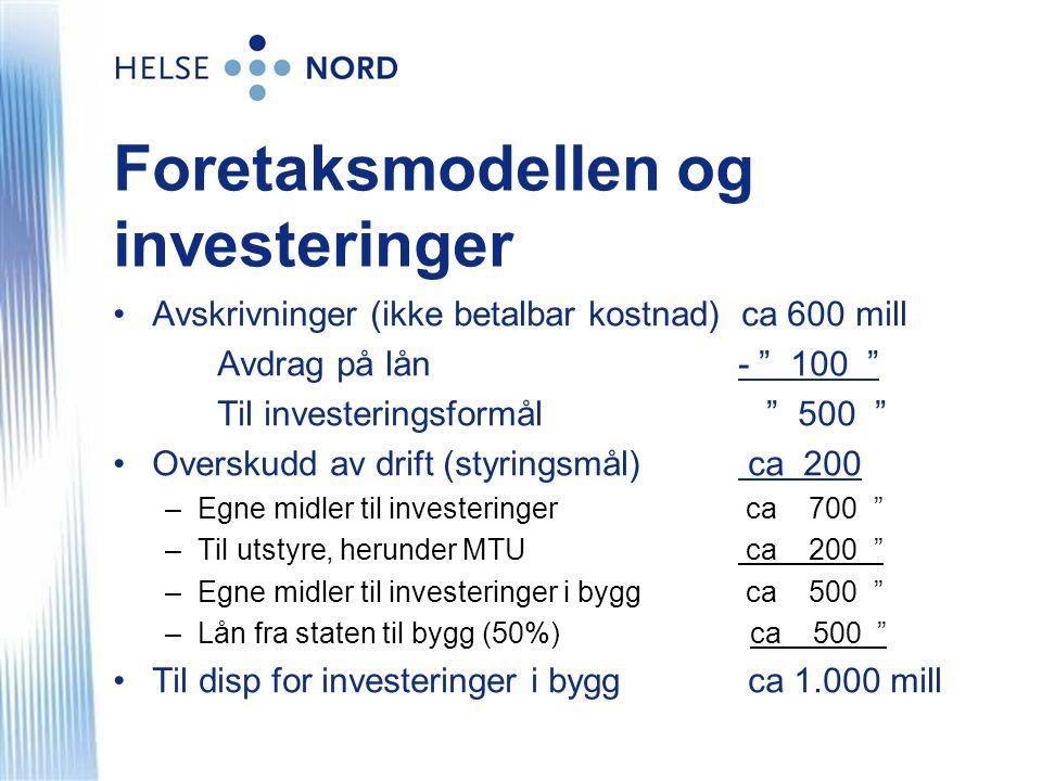 Foretaksmodellen og investeringer
