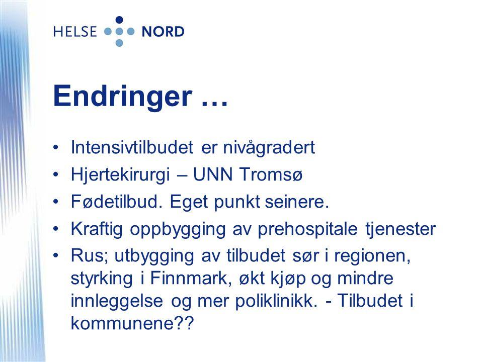 Endringer … Intensivtilbudet er nivågradert Hjertekirurgi – UNN Tromsø
