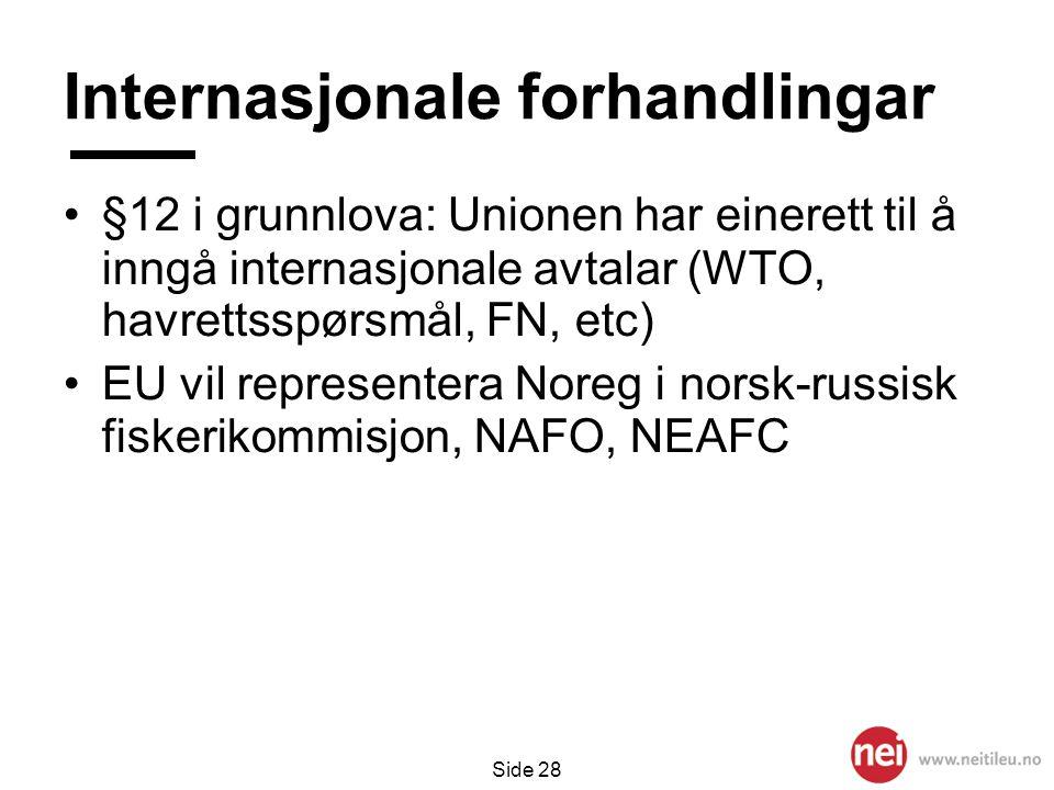 Internasjonale forhandlingar