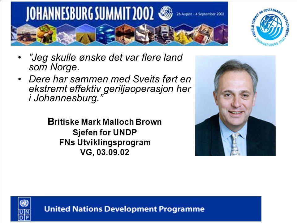 Britiske Mark Malloch Brown FNs Utviklingsprogram