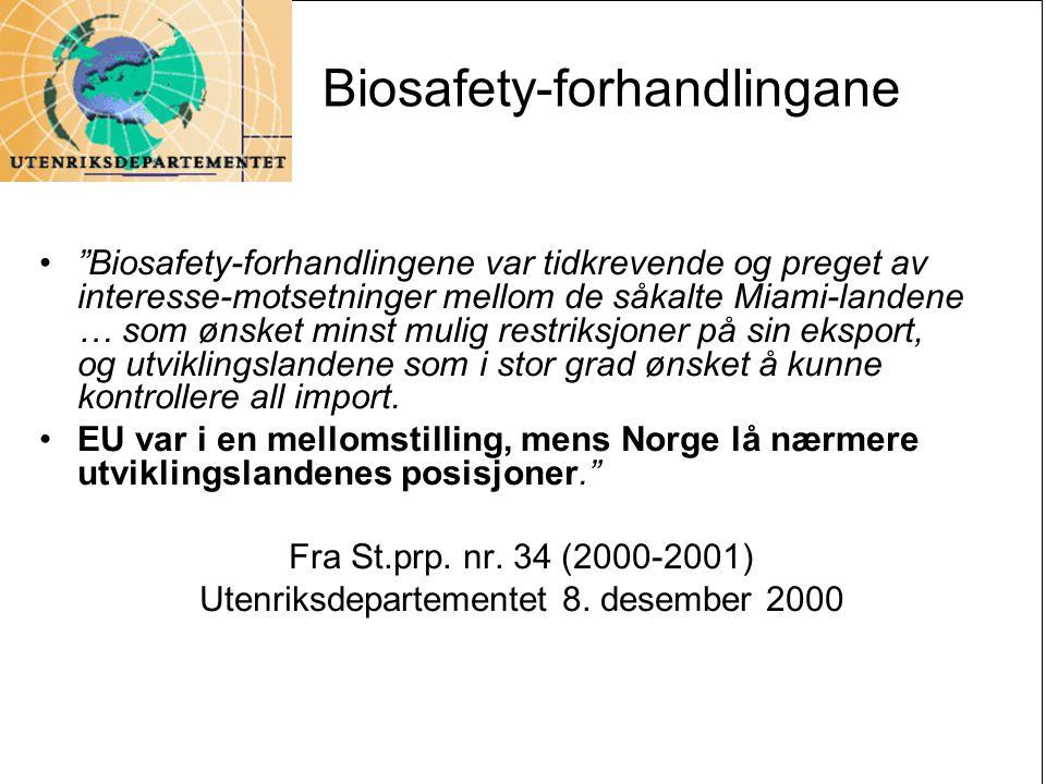 Biosafety-forhandlingane