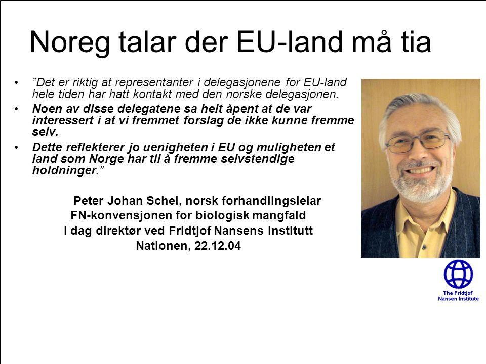 Noreg talar der EU-land må tia