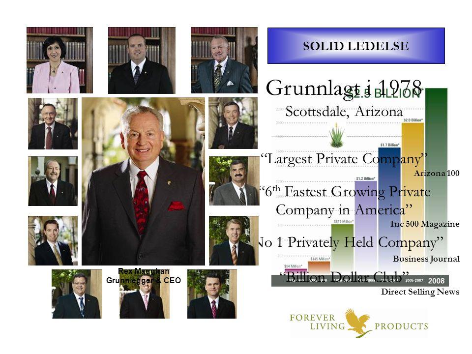 Grunnlagt i 1978 300 års ERFARING Styret i Forever Scottsdale, Arizona