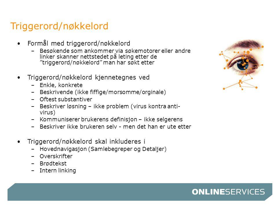 Triggerord/nøkkelord