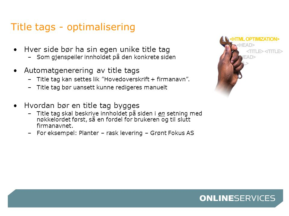 Title tags - optimalisering