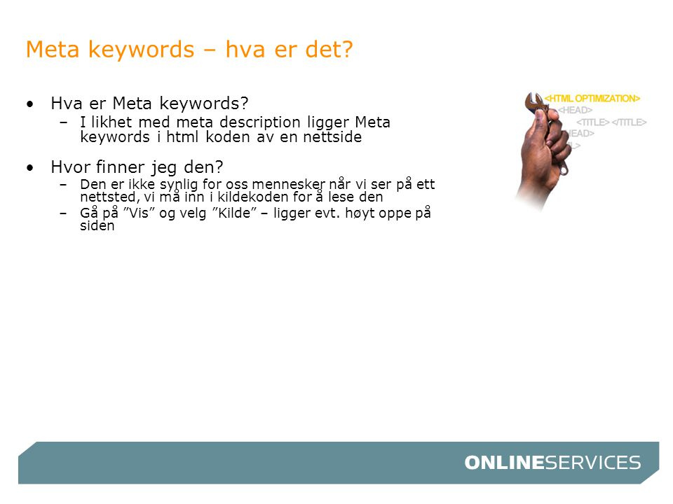 Meta keywords – hva er det