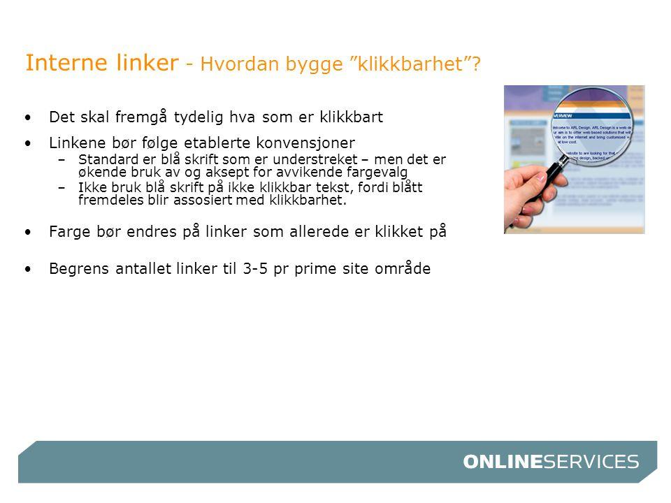 Interne linker - Hvordan bygge klikkbarhet