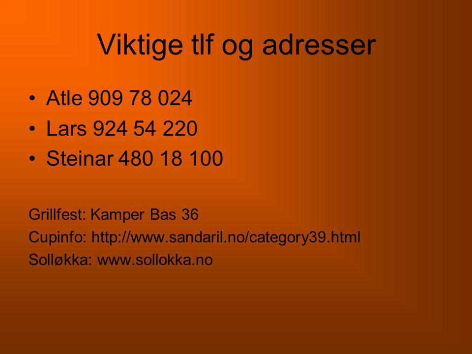 Viktige tlf og adresser