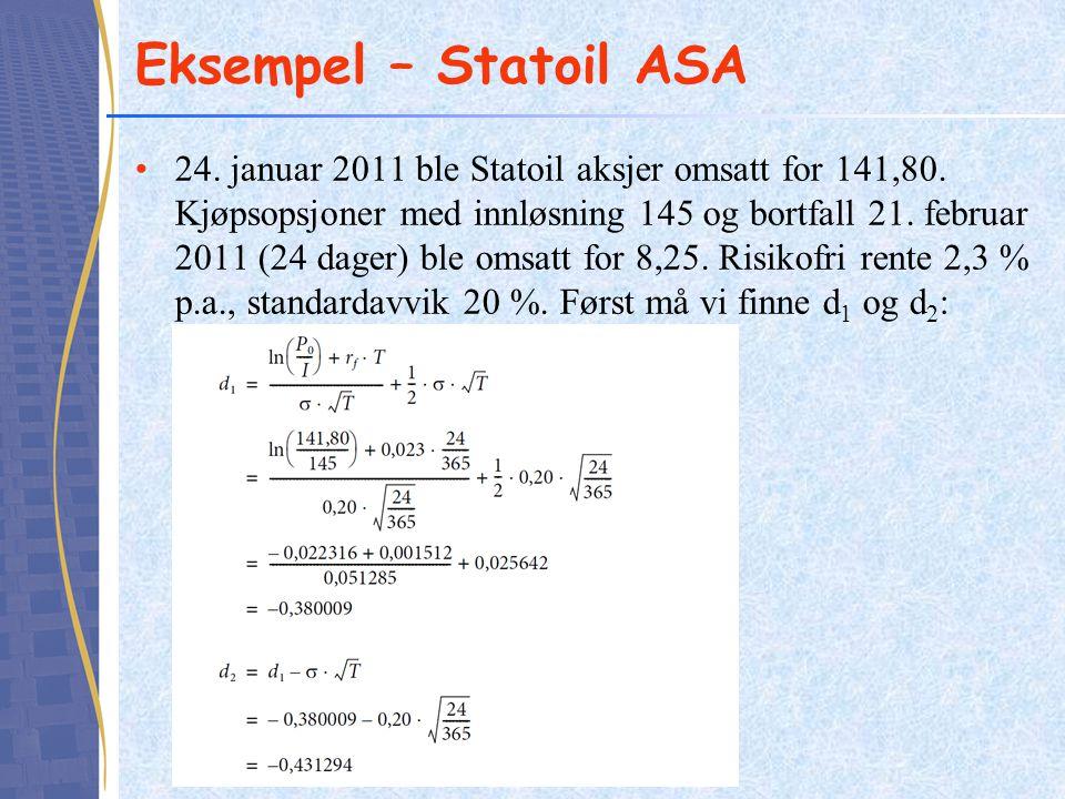 Eksempel – Statoil ASA
