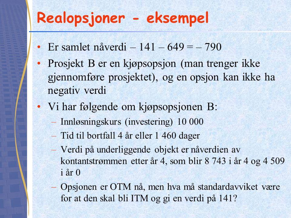 Realopsjoner - eksempel