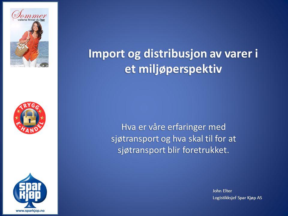 Import og distribusjon av varer i et miljøperspektiv