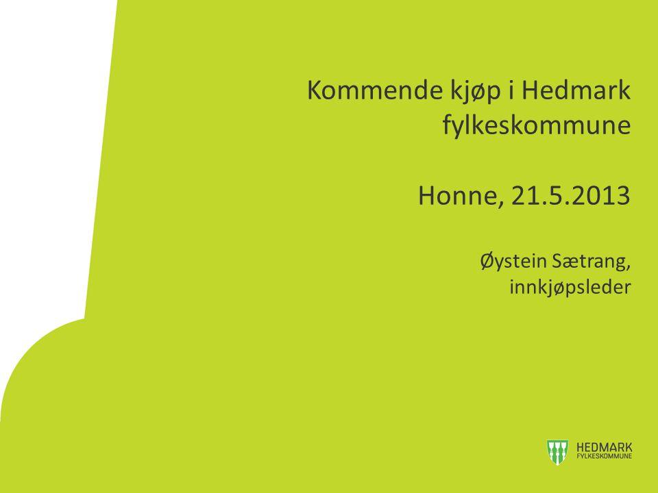 Kommende kjøp i Hedmark fylkeskommune Honne, 21. 5