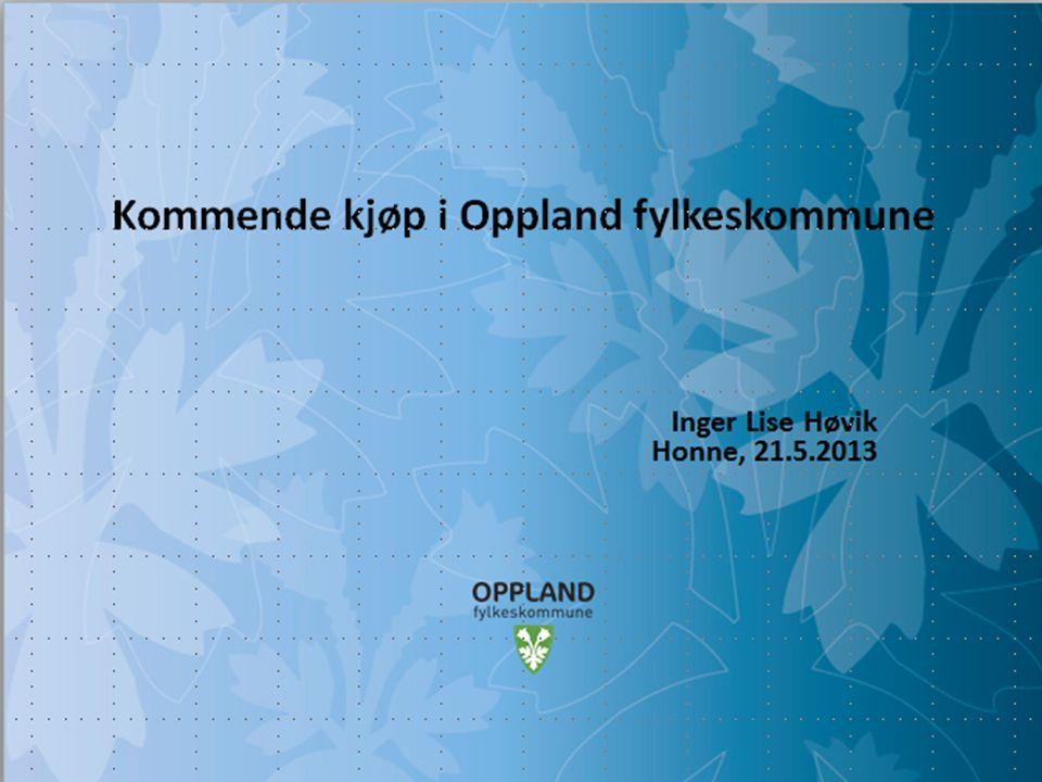 Kommende kjøp i Oppland fylkeskommune