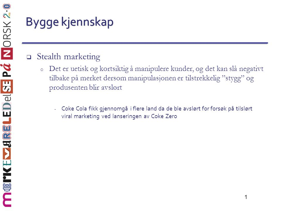 Bygge kjennskap Stealth marketing
