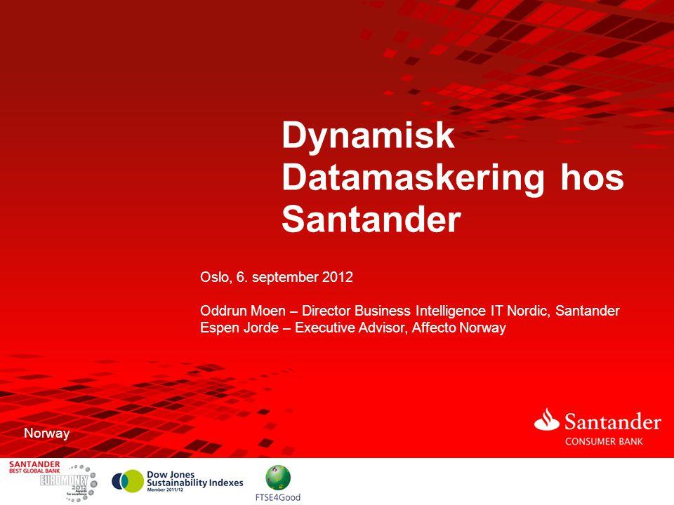 Dynamisk Datamaskering hos Santander