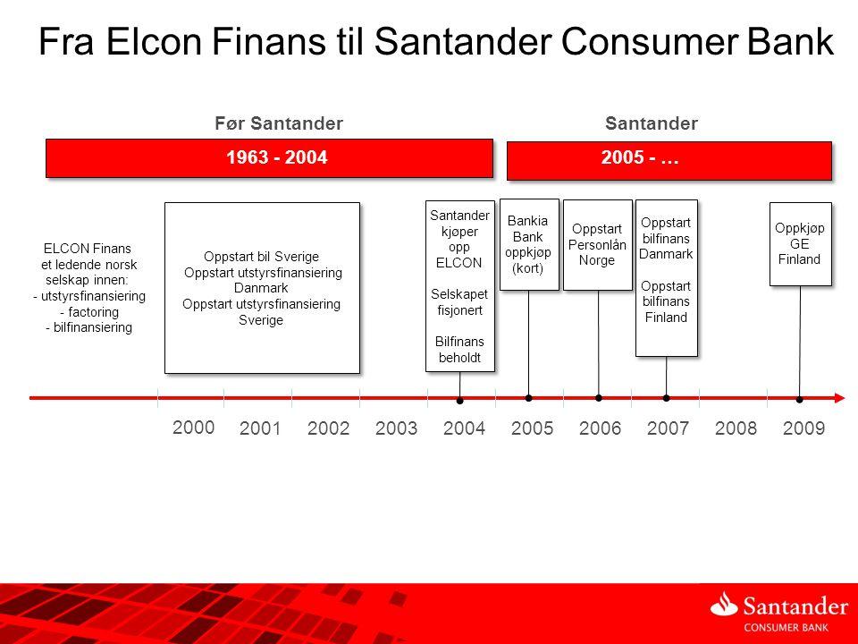 Fra Elcon Finans til Santander Consumer Bank