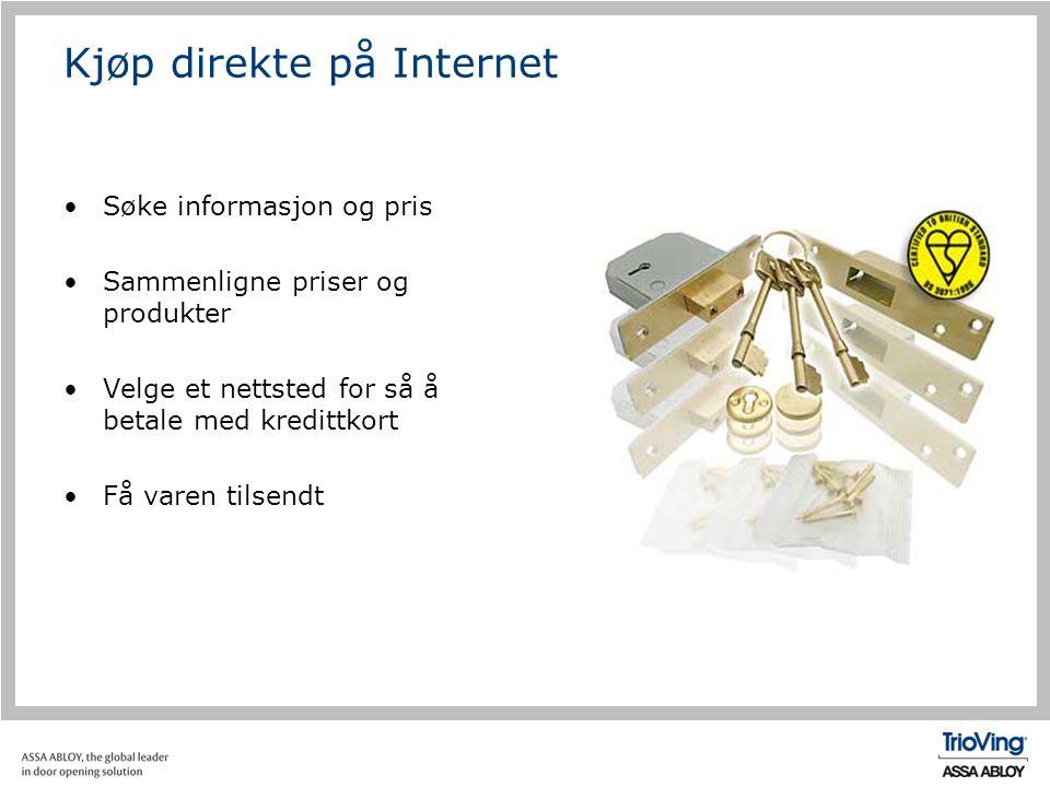 Kjøp direkte på Internet