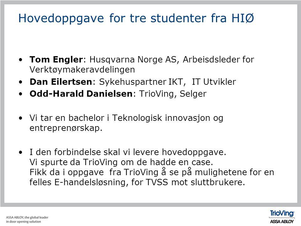 Hovedoppgave for tre studenter fra HIØ