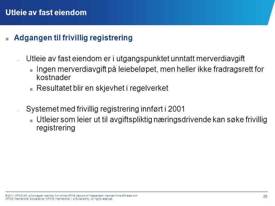 Frivillig registrering – hvilke areal/leietakere