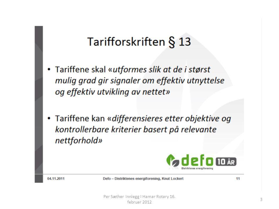 Per Sæther innlegg i Hamar Rotary 16. februar 2012