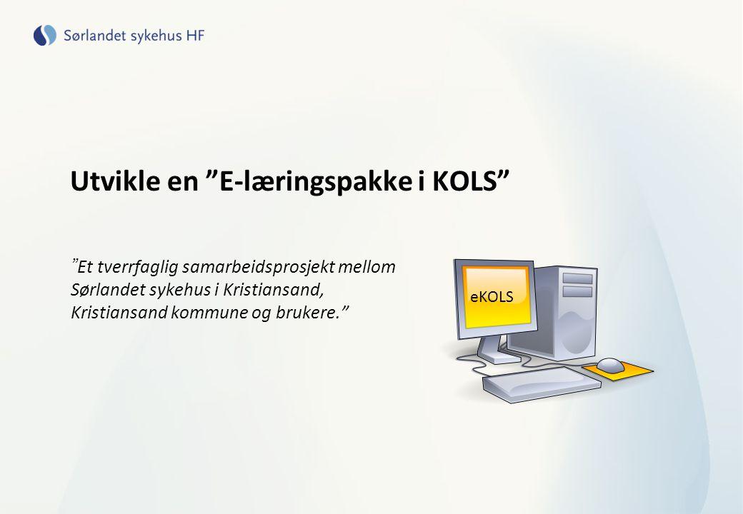 Utvikle en E-læringspakke i KOLS