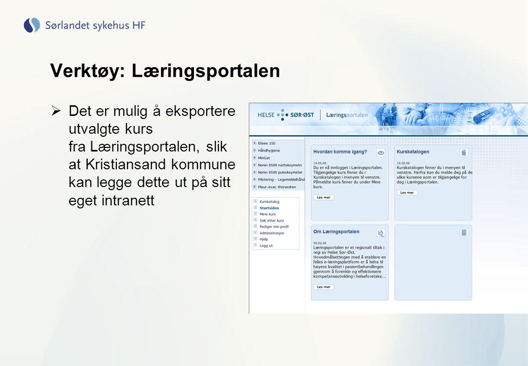 Verktøy: Læringsportalen