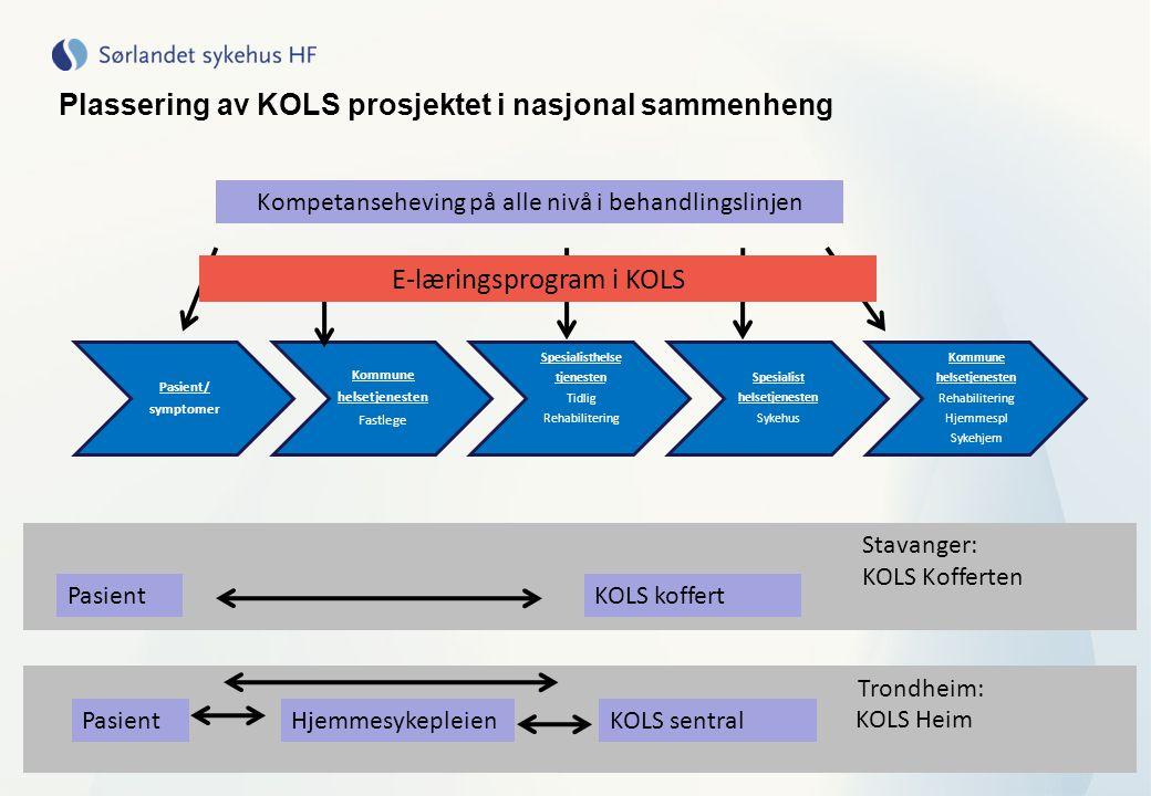Plassering av KOLS prosjektet i nasjonal sammenheng