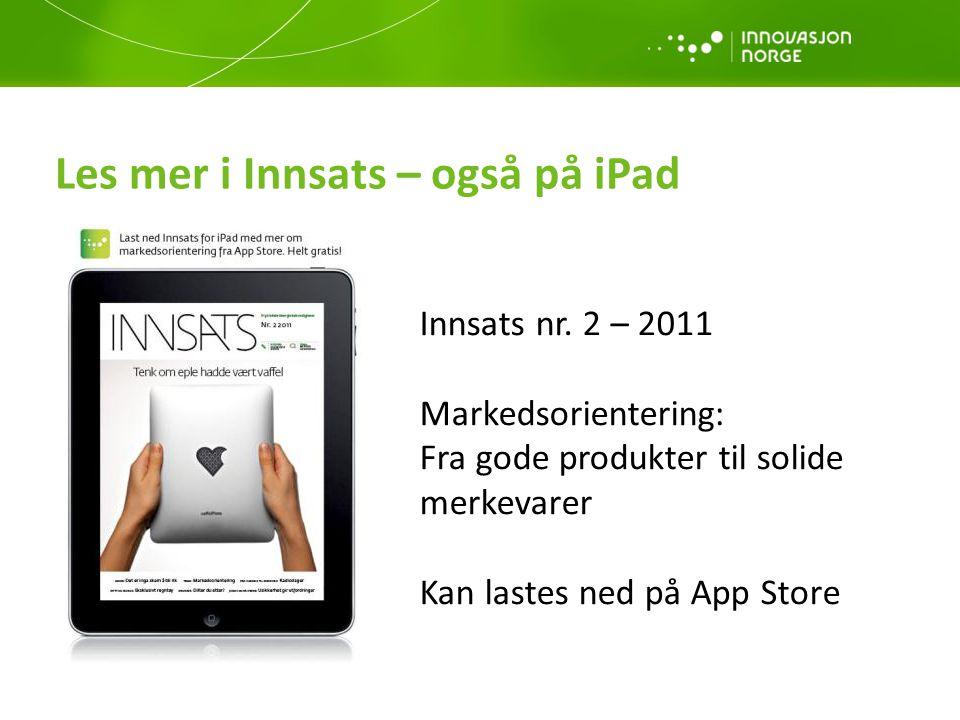 Les mer i Innsats – også på iPad
