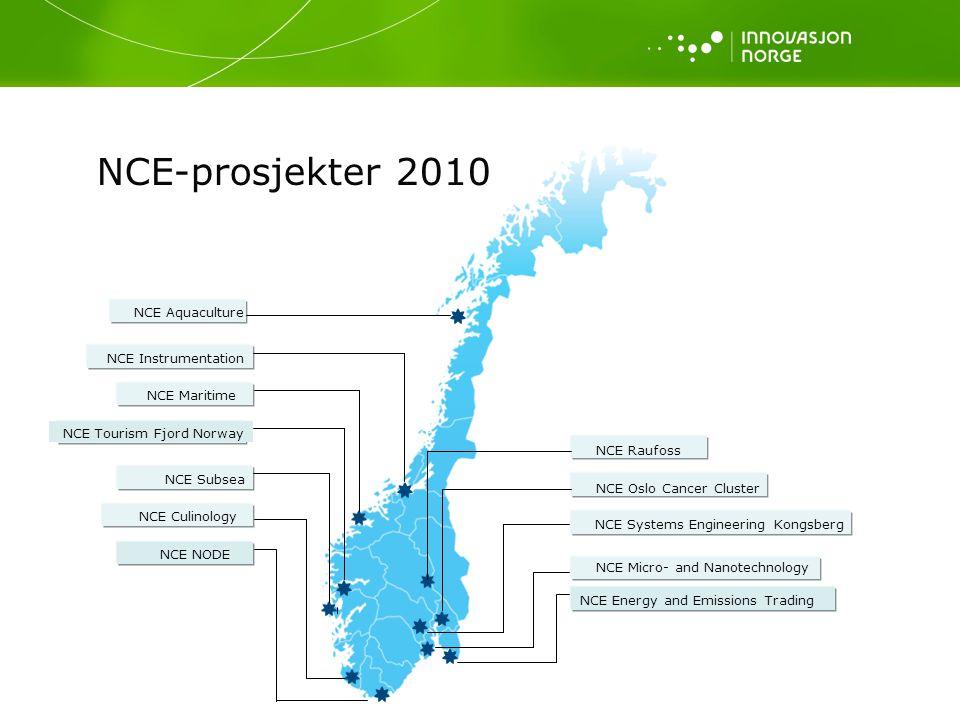 NCE-prosjekter 2010 NCE Aquaculture NCE Instrumentation NCE Maritime