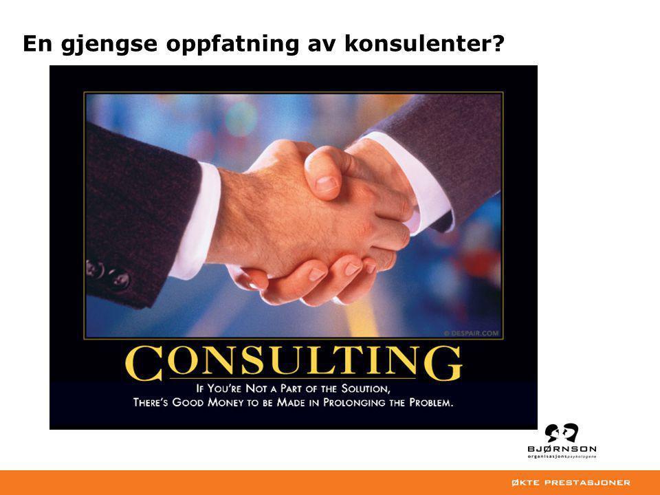 En gjengse oppfatning av konsulenter