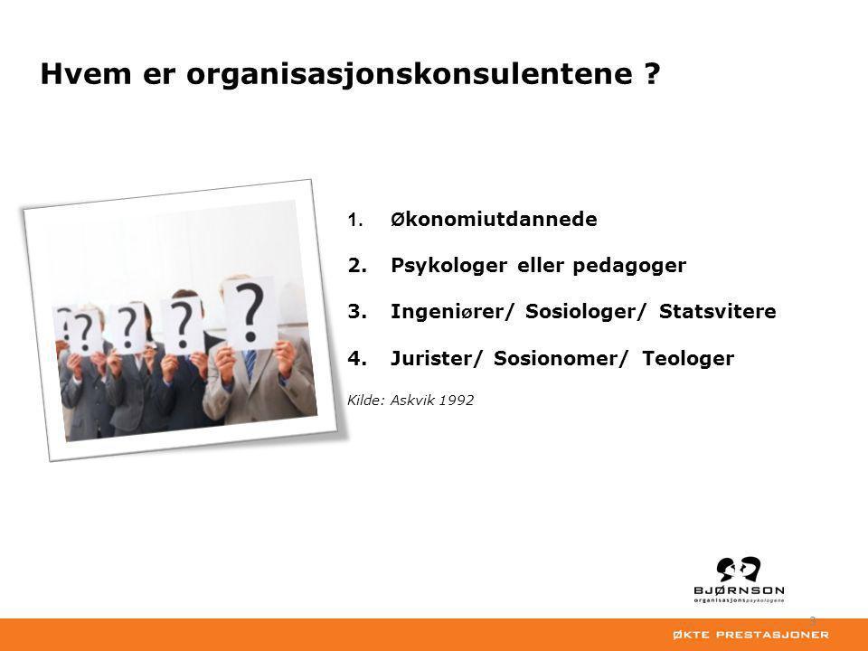 Hvem er organisasjonskonsulentene