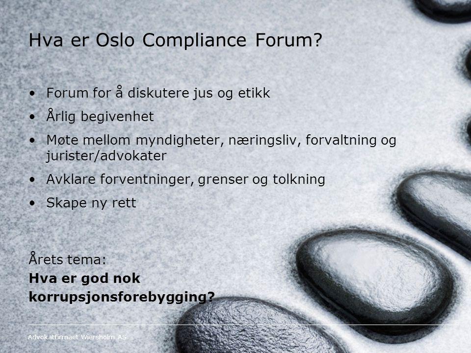 Hva er Oslo Compliance Forum