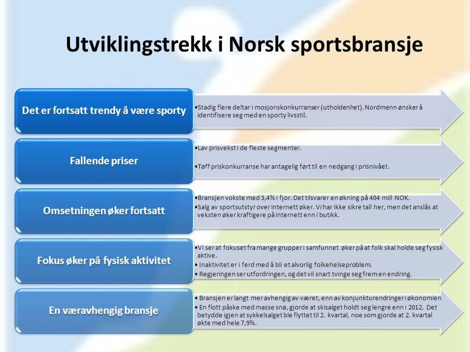 Utviklingstrekk i Norsk sportsbransje