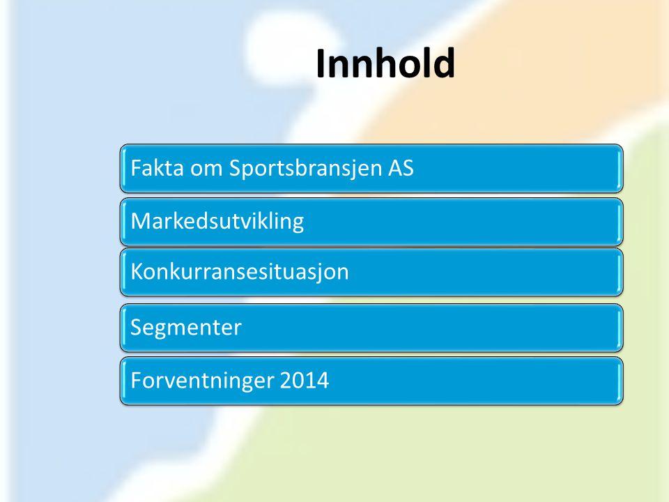 Innhold Fakta om Sportsbransjen AS Markedsutvikling