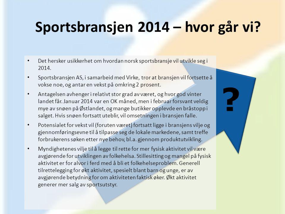 Sportsbransjen 2014 – hvor går vi
